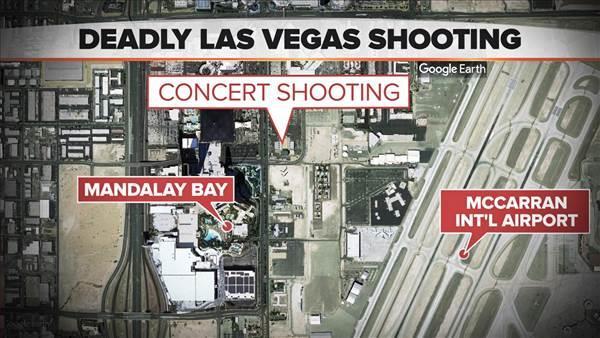 Las Vegas shooting-map