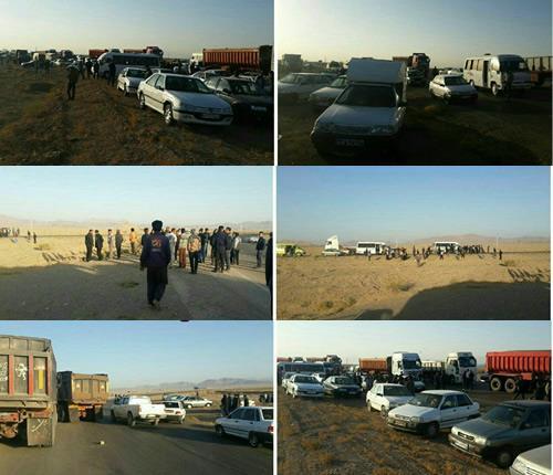 اعتصاب کارگران شرکت تاریر جلال آباد زرند
