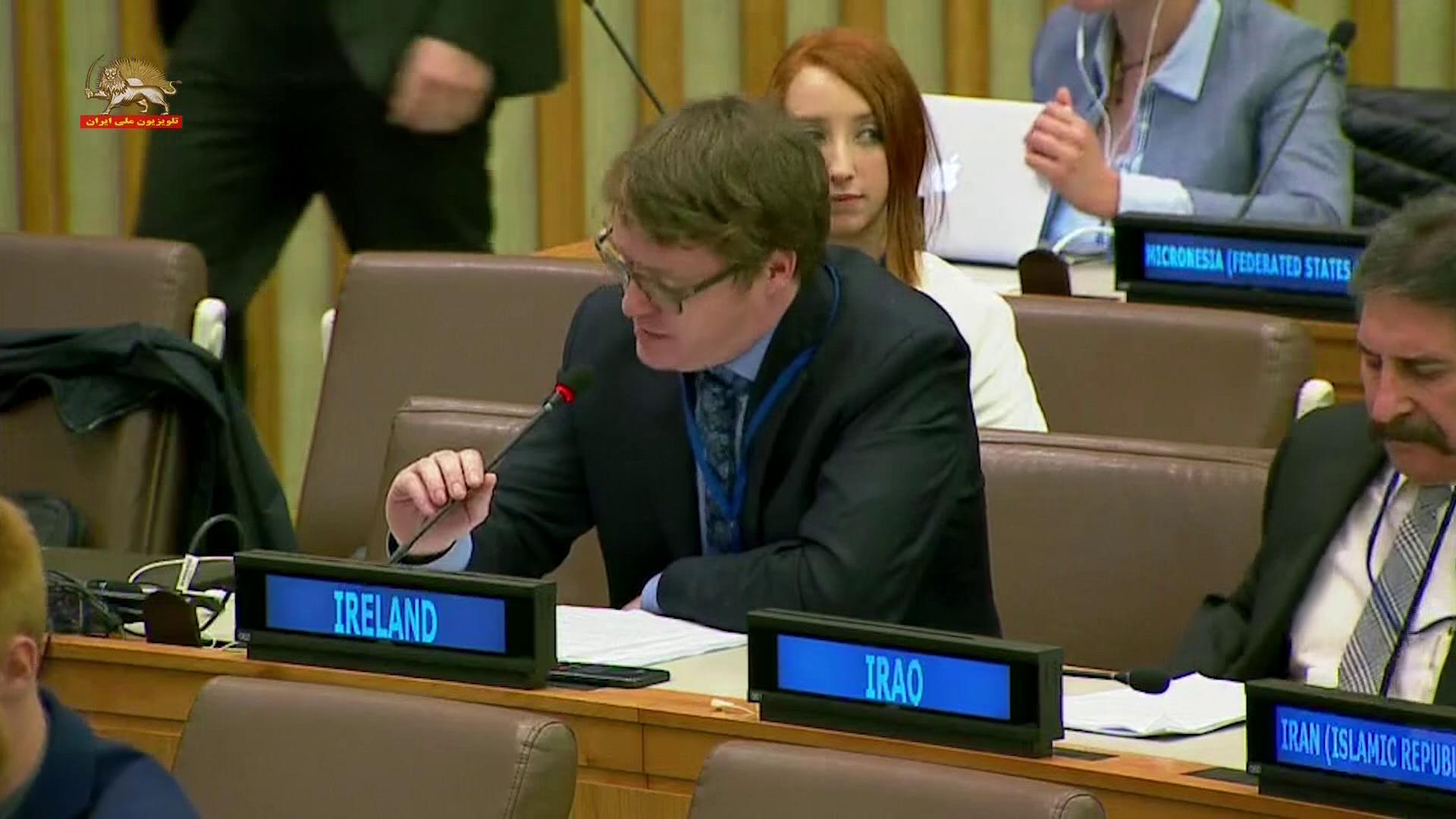 نماینده ایرلند در اجلاس کمیتهٴ سوم مجمع عمومی