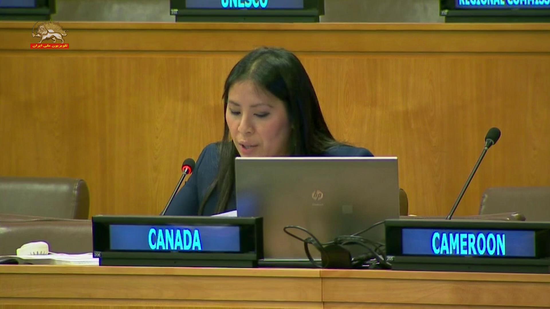 نماینده کانادا در اجلاس کمیتهٴ سوم مجمع عمومی