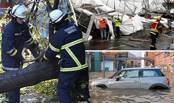 Storm Hewart live; Powerful winds have battered central Europe