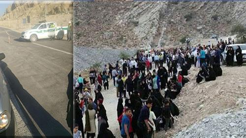 Iran regime setting up roadblocks to prevent thousands of Iranian people from holding the Cyrus Day celebrations
