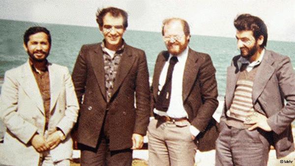 (R-L) Mohsen Rezaee, Anis al-Naqqash, Mohamed Salih al-Hosseini and Mohsen Rafighdoust – Beirut, 1980.