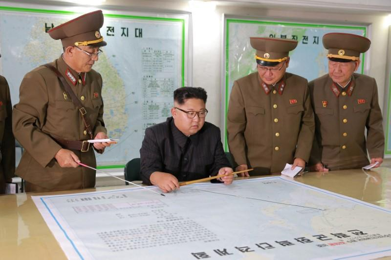 North Korean leader Kim Jong Un visits the Command of the Strategic Force of the Korean People's Army