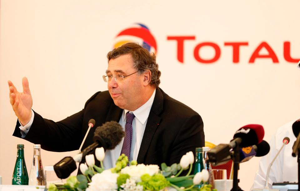Chairman and CEO of French energy company Total, Patrick Pouyanne