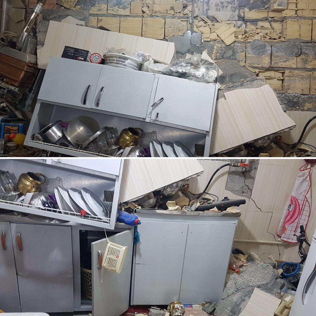 Damage to the earthquake in the city of Ravansar in Kermanshah province