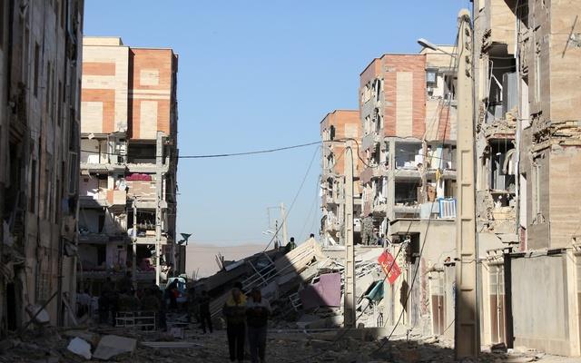 Damaged belongings are seen following an earthquake in Sarpol-e Zahab county in Kermanshah, Iran Nov 13, 2017.