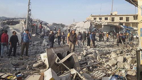 مرگ دهها شهروند سوری بر اثر بمباران هواپیماهای اسد