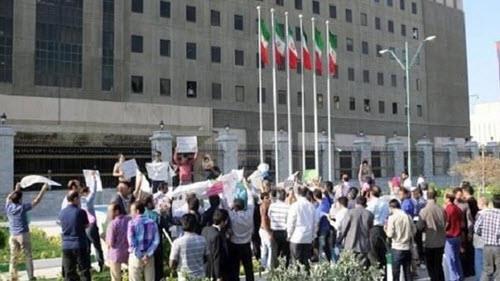 تجمع اعتراضی غارتشدگان خوزستانی مقابل مجلس ارتجاع_ آرشیو