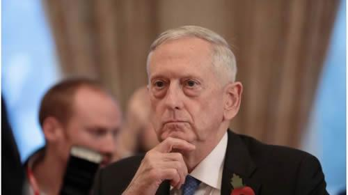 U.S. Secretary for Defense, Jim Mattis, before a meeting at the Ministry of Defence (MoD) in central London, Britain November 10, 2017