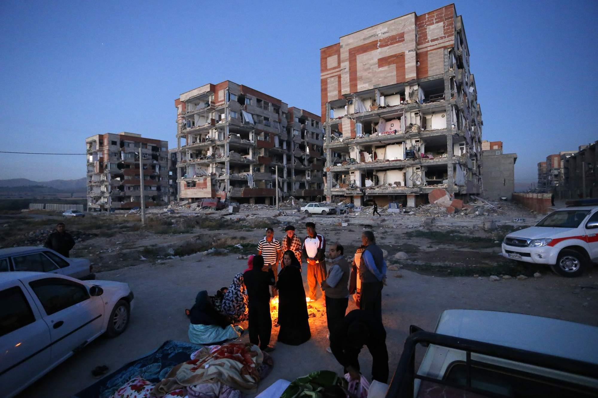 Iranian social media and news agencies showed images and videos of people fleeing their homes into the night. More than 100 aftershocks followed.