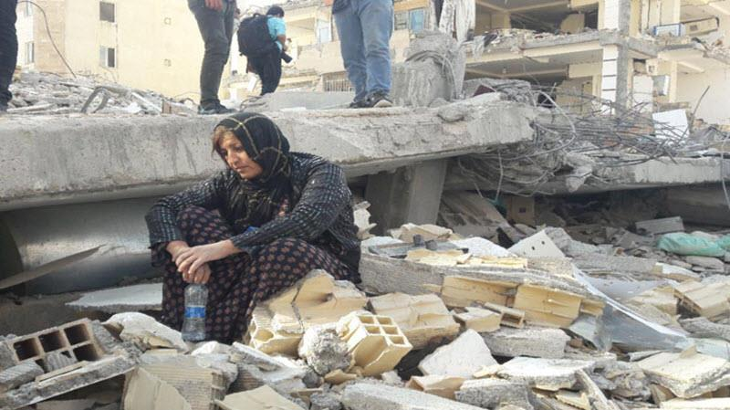 The worst damage occurred in the Kermanshah region