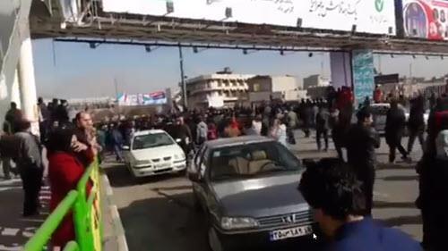 تظاهرات احتجاجية في مدينة كرمانشاه