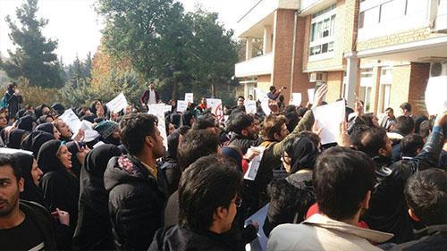 تجمع اعتراضی دانشجویان دانشگاه ملی به مناسبت روز 16آذر