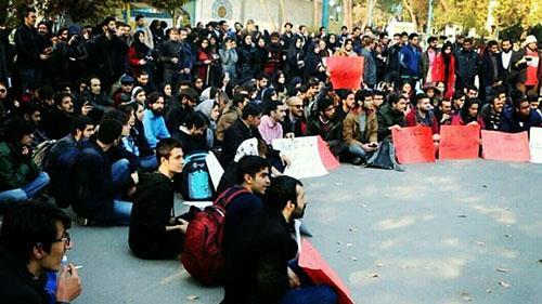 تجمع دانشجویان به مناسبت 16 آذر روز دانشجو