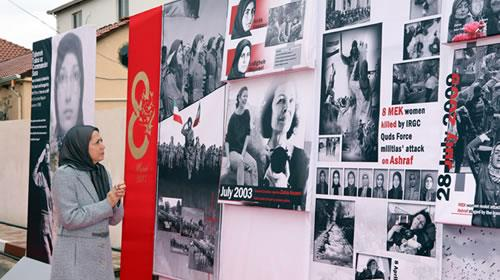 Maryam Rajavi attends an elaborate photo exhibition on the occasion of the International Womens Day in Tirana, Albania