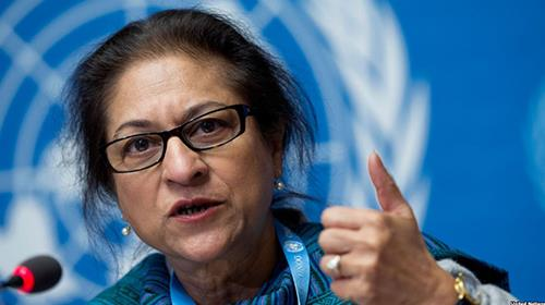 The UNs special rapporteur on the human rights situation in Iran, Asma Jahangir