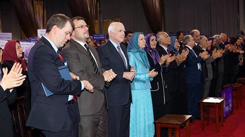 Senator McCain meeting Maryam Rajavi and PMOI freedom fighters in Tirana