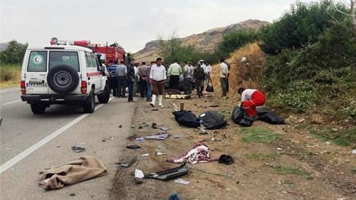 تصادفات جاده يي دومين عامل مرگ در ايران تحت حاکميت آخوندي