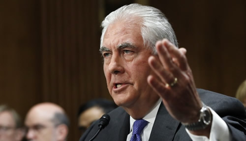Tillerson is the first administration official to advocate for regime change in Iran in his official capacity