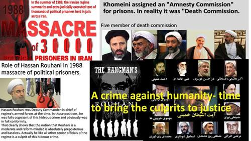 """An international move demanded accountability of members of the """"death committee"""" who executed thousands of political prisoners in 1988"""