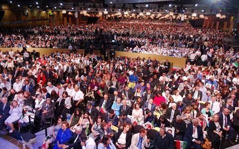 tens of thousands of Iranian dissidents gathered on July 1, 2017