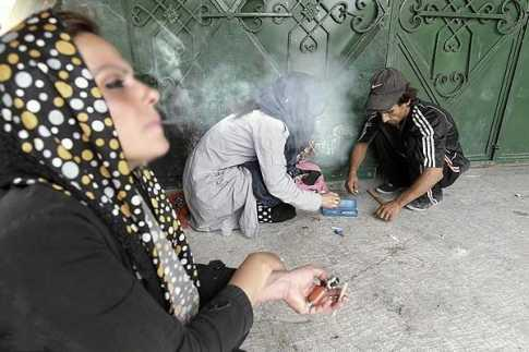 Methamphetamine addicts in Iranian women