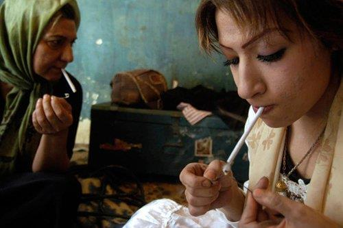 Young drug users in Iran