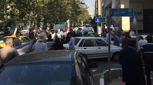 Protest gathering of ransacked shareholders in Tehran