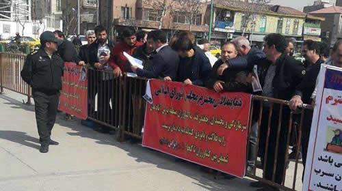تجمع اعتراضی چغندر کاران پارس آباد مغان
