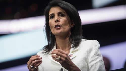 نیکی هیلی نماینده آمریکا در سازمان ملل