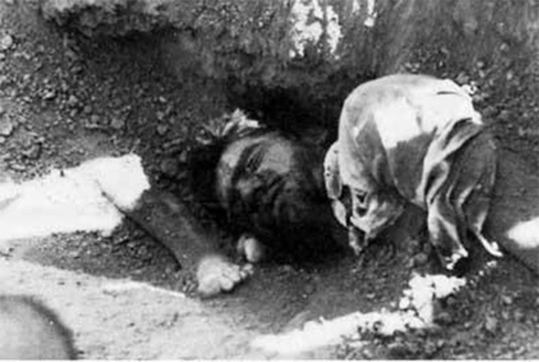 The martyrs' bodies of the massacre in the mass grave in Khavaran
