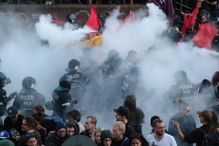 بیانیه جی 20 در کورانی از درگيريهای اعتراضی در هامبورگ صادر شد