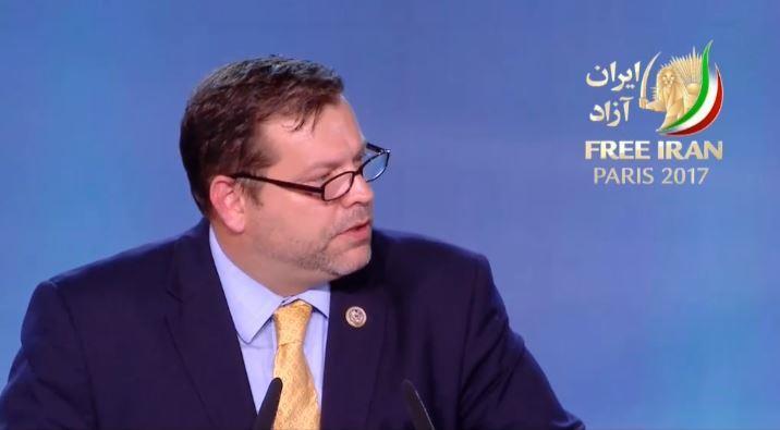گردهمایی بزرگ مقاومت ایران، سخنرانی تام گرت-نماینده کنگره آمریکا