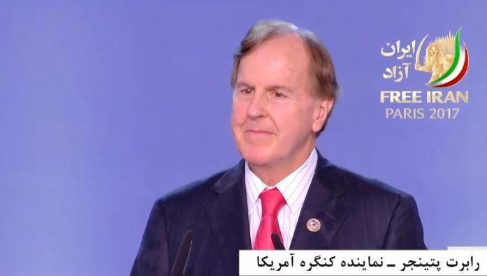 گردهمایی بزرگ مقاومت ایران، سخنرانی رابرت پتینجر - نماینده کنگره آمریکا