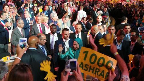گردهمایی بزرگ ایرانیان در پاریس با حضور مریم رجوی