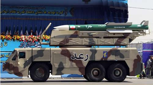 September 21, 2012, shows a Raad air defense system carrying Taer missiles being displayed by Irans Revolutionary Guard, in the capital Tehran.