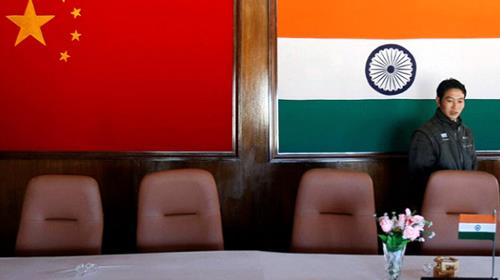 Inside a conference room used for meetings between military commanders of China and India, at the Indian side of the Indo-China border