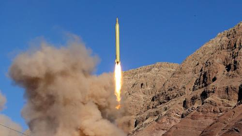 Iran test-launches a long-range Qadr ballistic missile, March 9, 2016.
