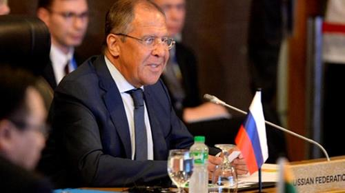 Russias Foreign Affairs Minister Sergey Lavrov speaks during a meeting with the ASEAN foreign ministers in suburban Manila, Philippines August 6, 2017