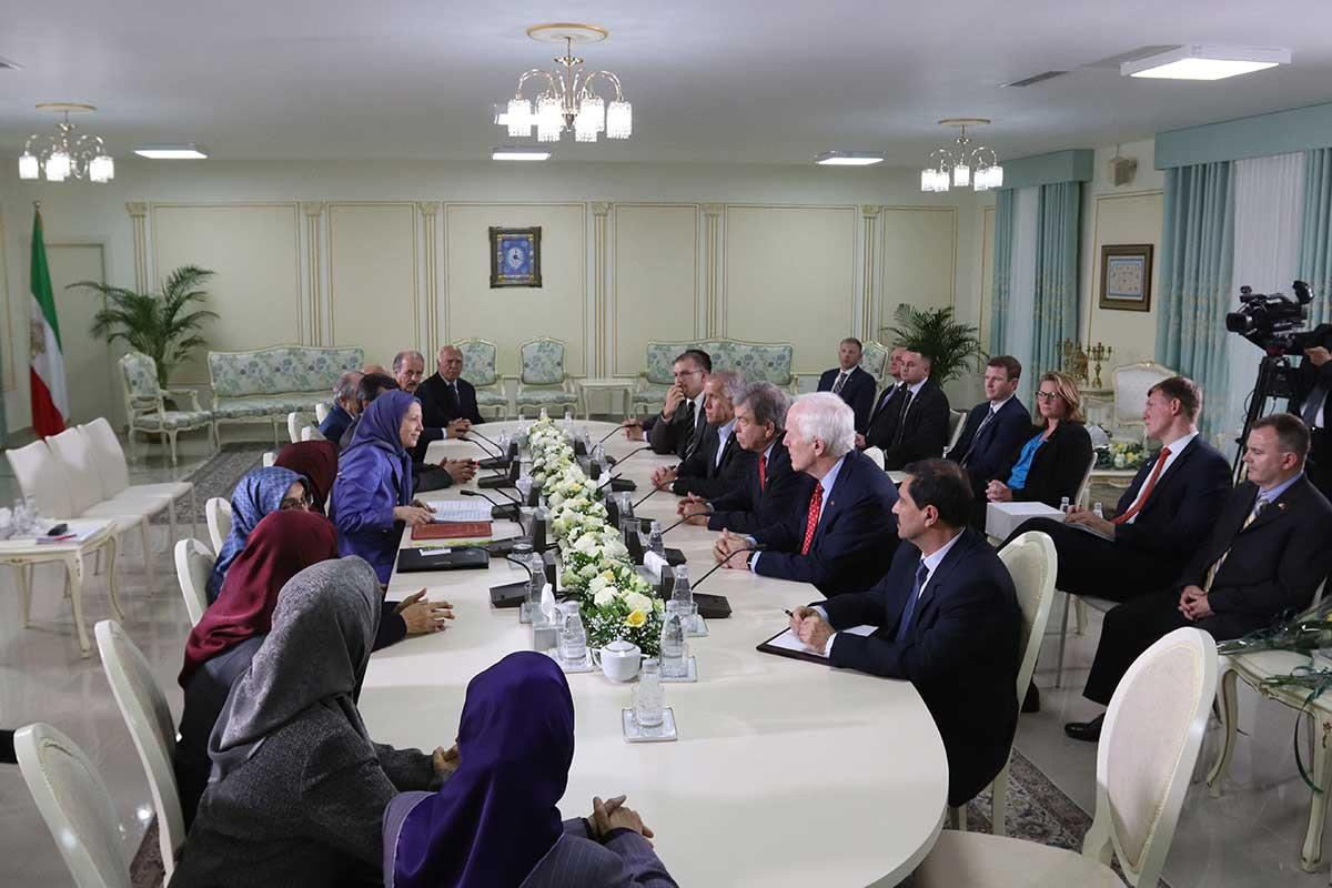 A senior delegation of US senators met with Maryam Rajavi at MEK headquarters in Tirana, Albania
