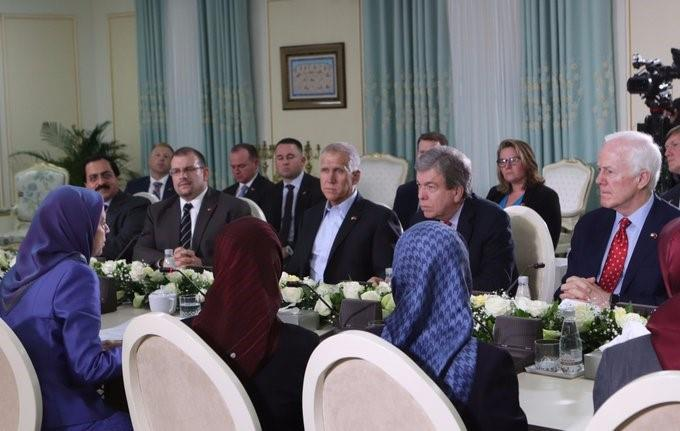 The delegation, led by Senator Blunt spoke with Iranian Resistance delegation led by Maryam Rajavi