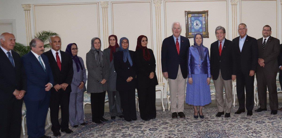 دیدار هیأت عالیرتبهٴ سنای آمریکا با خانم مریم رجوی و مجاهدین در تیرانا