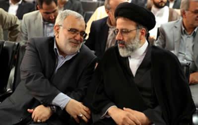 قتلعام ۶۷ – سردژخیم مرتضی بختیاری، وزیر دادگستری پاسدار احمدینژاد در کنار جلاد ابراهیم رئیسی