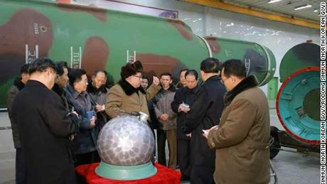 """The North Korean leader, Kim Jong-un, with what the C.I.A. calls """"the disco ball"""