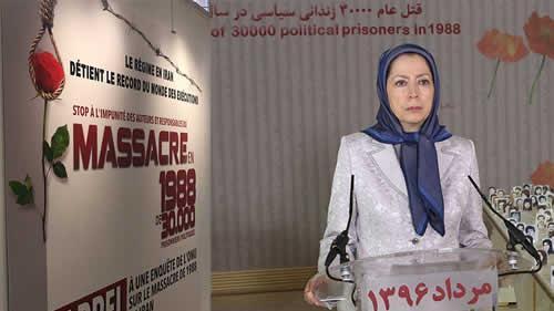 پیام رئیسجمهور برگزیده مقاومت مریم رجوی به شرکت کنندگان در نمایشگاه قتلعام ۶۷
