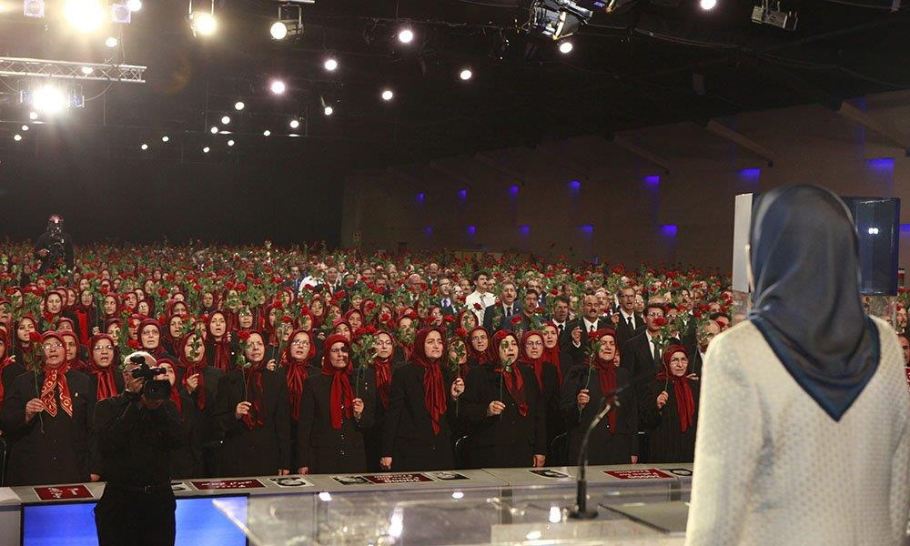 Maryam Rajavi speaks at a ceremony marking the 1988 massacre of 30,000 political prisoners in Iran