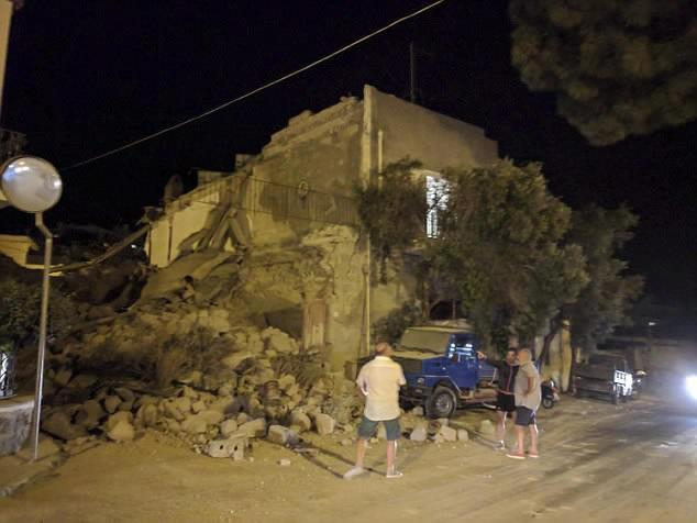 Police fear the death toll of two could rise further with six missing in the rubble of their homes after an earthquake hit the Italian resort island of Ischia at the peak of its tourist season.