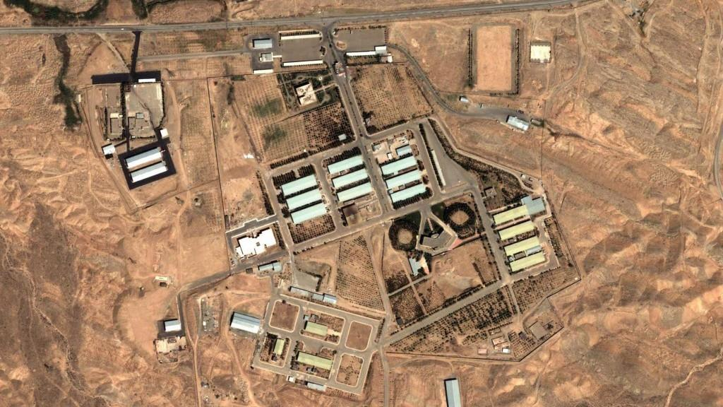 Satellite image of the Parchin facility, April 2012