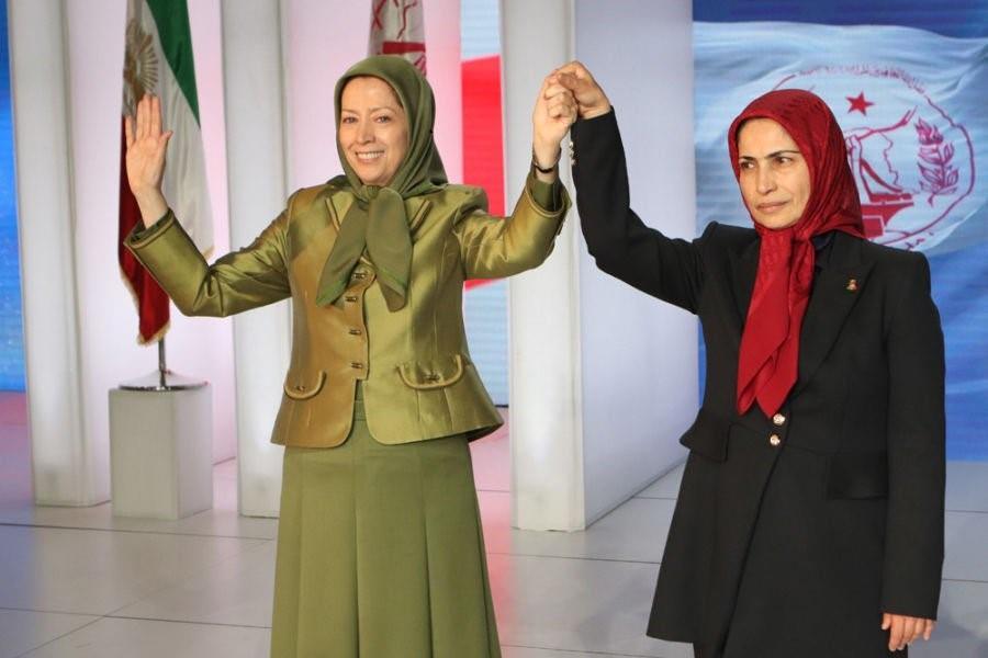 Mrs. Rajavi and Ms. Zahra Merrikhi